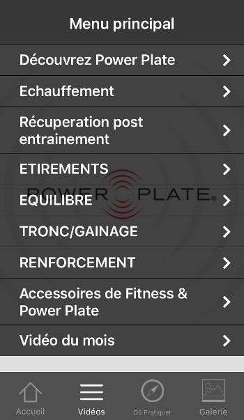 appli power plate france iphone android