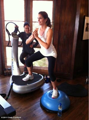 Cindy Crawford power plate