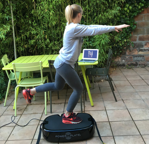 coaching power plate à domicile webcam