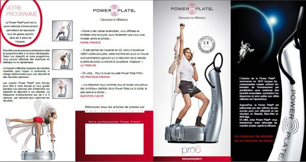 power plate pack communication flyer