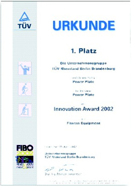 prix innovation fitness 2002