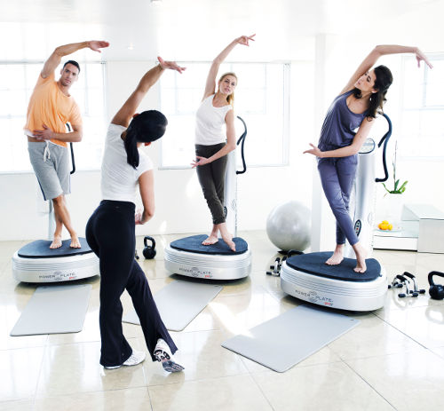 étirement power plate groupe