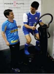 Djocovic on power plate