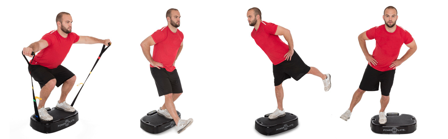 Power Plate mobile exercices positions 1