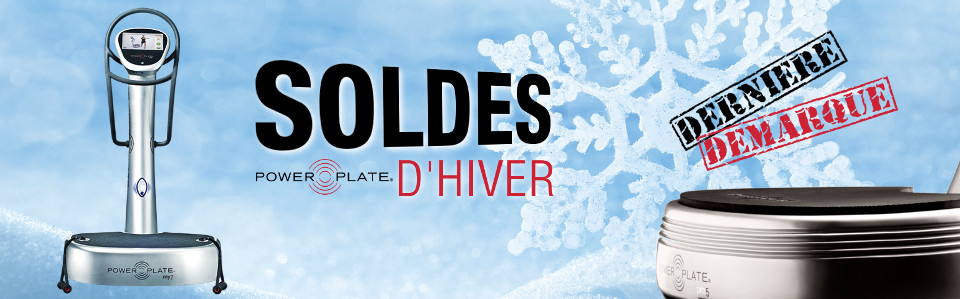 power plate soldes hiver plateforme vibrante