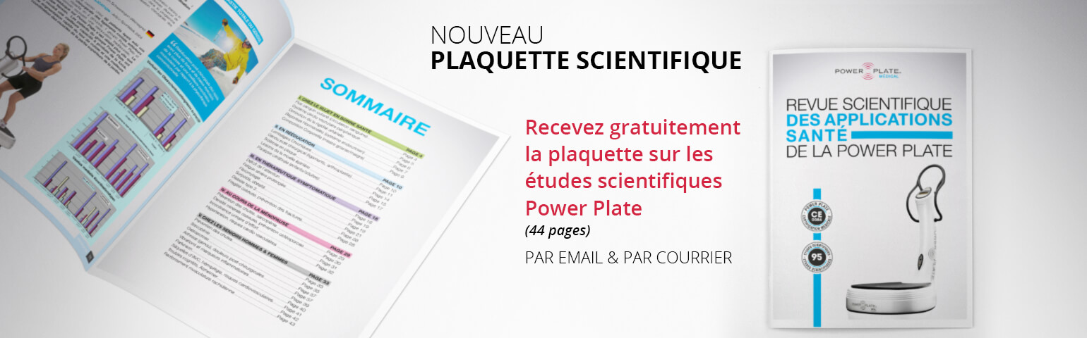 Plaquette scientifique Power plate