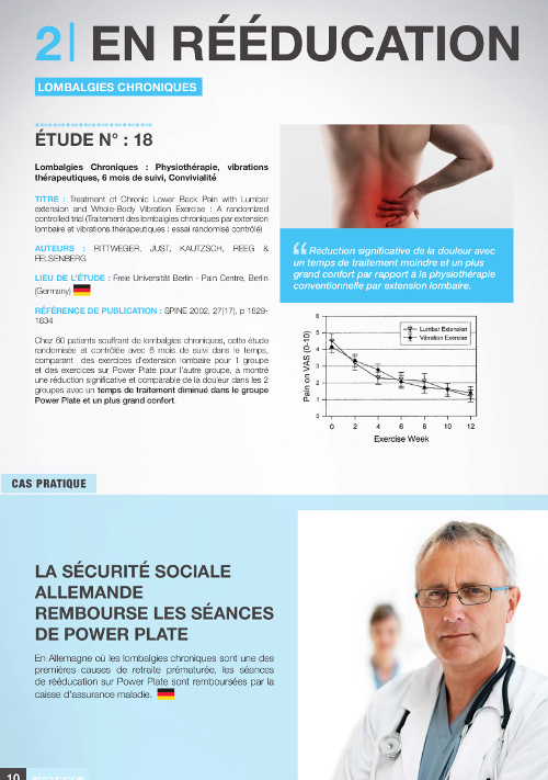 Etude scientifique power plate rééducation revue